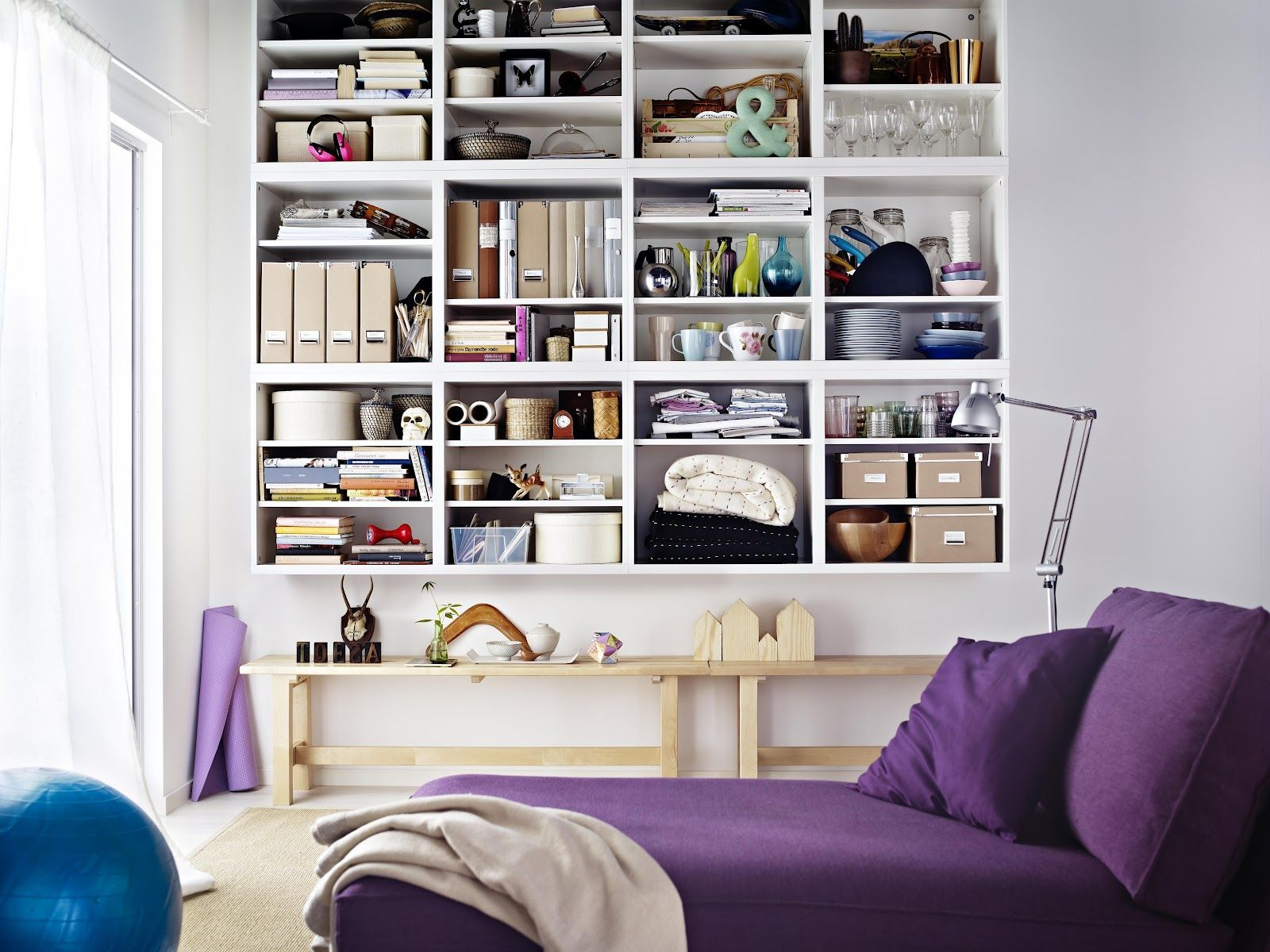 Wall of box shelves home decor Pinterest