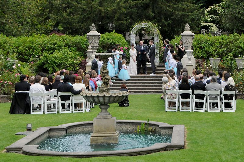 Incredible Outdoor Wedding Venue In Our Sunken English Garden