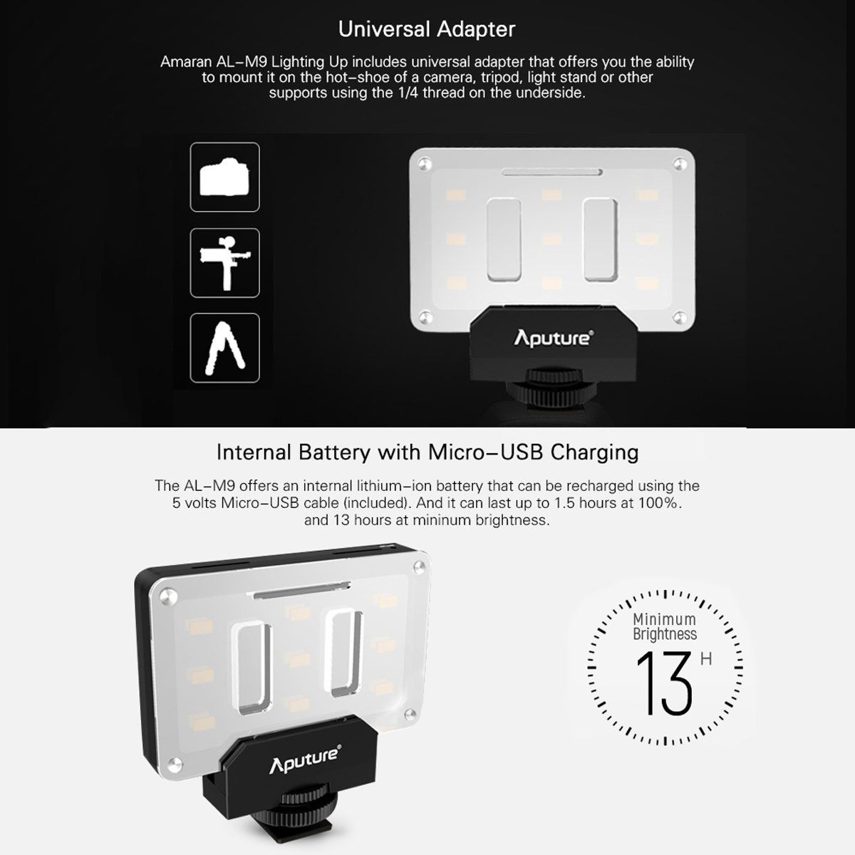 Amaran Al M9 Pocket Sized Daylight Balanced Led Light Tiyana Incorporation Official Aputure India Distributor Sony Mobile Phones Phone Camera Lens New Mobile Phones