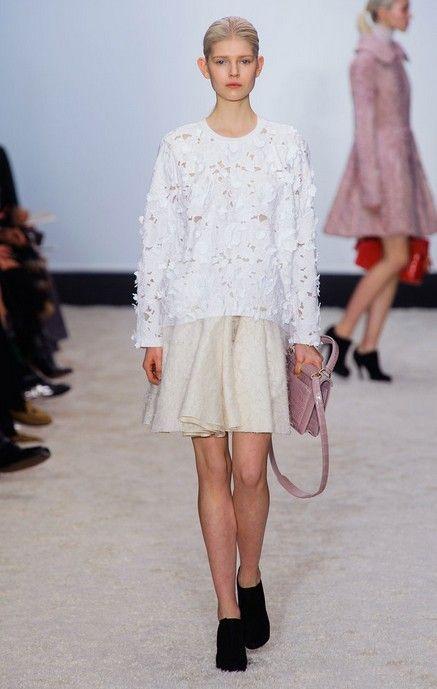 @roressclothes clothing ideas #women fashion white skirt Giambattista Valli Fall 2014