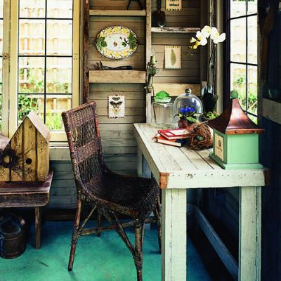 25 creative home offices Offices Garden shed interiors and