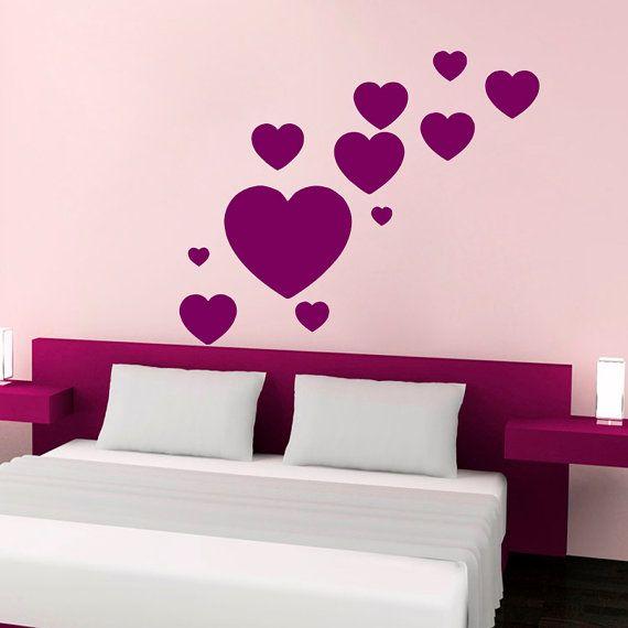 Wall Decals Heart Decal Vinyl Sticker Window Nursery Bedroom Kitchen ...