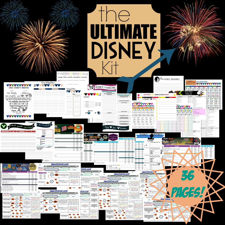 Ultimate Disney Planning Kit Printable Disney Organization Kit