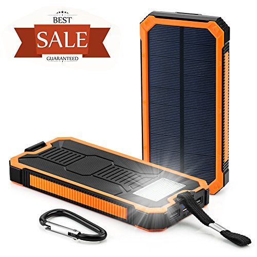 Solar Cell Phone Charger Grandbeing 15000mah Solar Power Bank Portable Dual Usb Outdoor External Battery Pack For Iphone Samsung Htc Nexus Smartphone Gopr