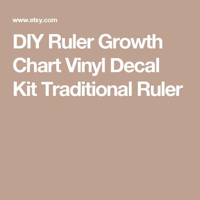 DIY Ruler Growth Chart Vinyl Decal Kit Traditional Ruler Small - Ruler growth chart vinyl decal