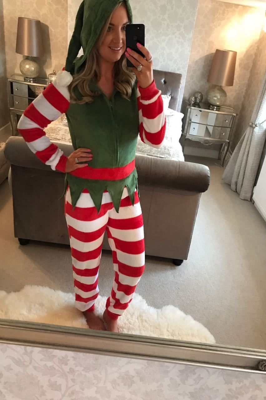 7173ce1a93 Deluxe Adult Christmas Elf Onesie.