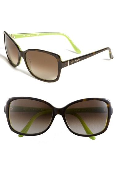 kate spade new york 58mm two-tone sunglasses available at #Nordstrom