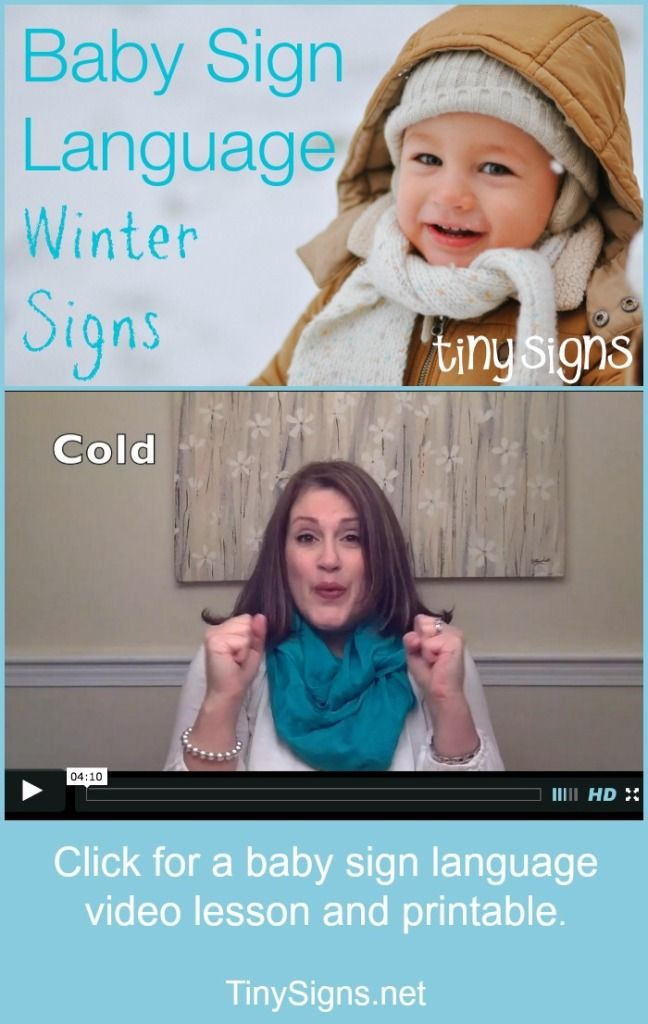 Baby Sign Language Winter Theme Tiny Signs Baby Sign Language Baby Signs Baby Sign Language Video