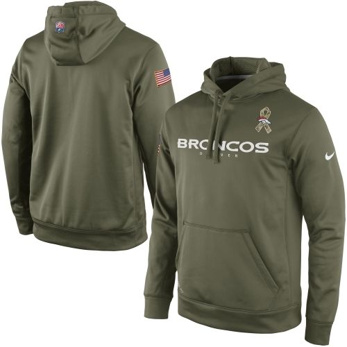 Nike Denver Broncos Salute to Service KO Pullover Performance Hoodie - Olive 027cd85a0