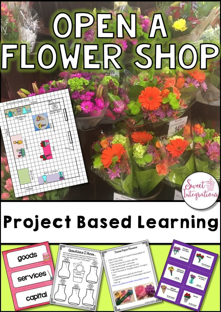 Project based learning math and economics open a flower