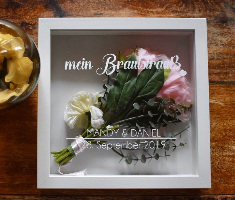many fonts possible Your bridal bouquet in the frame *with your personal data* Forever Us