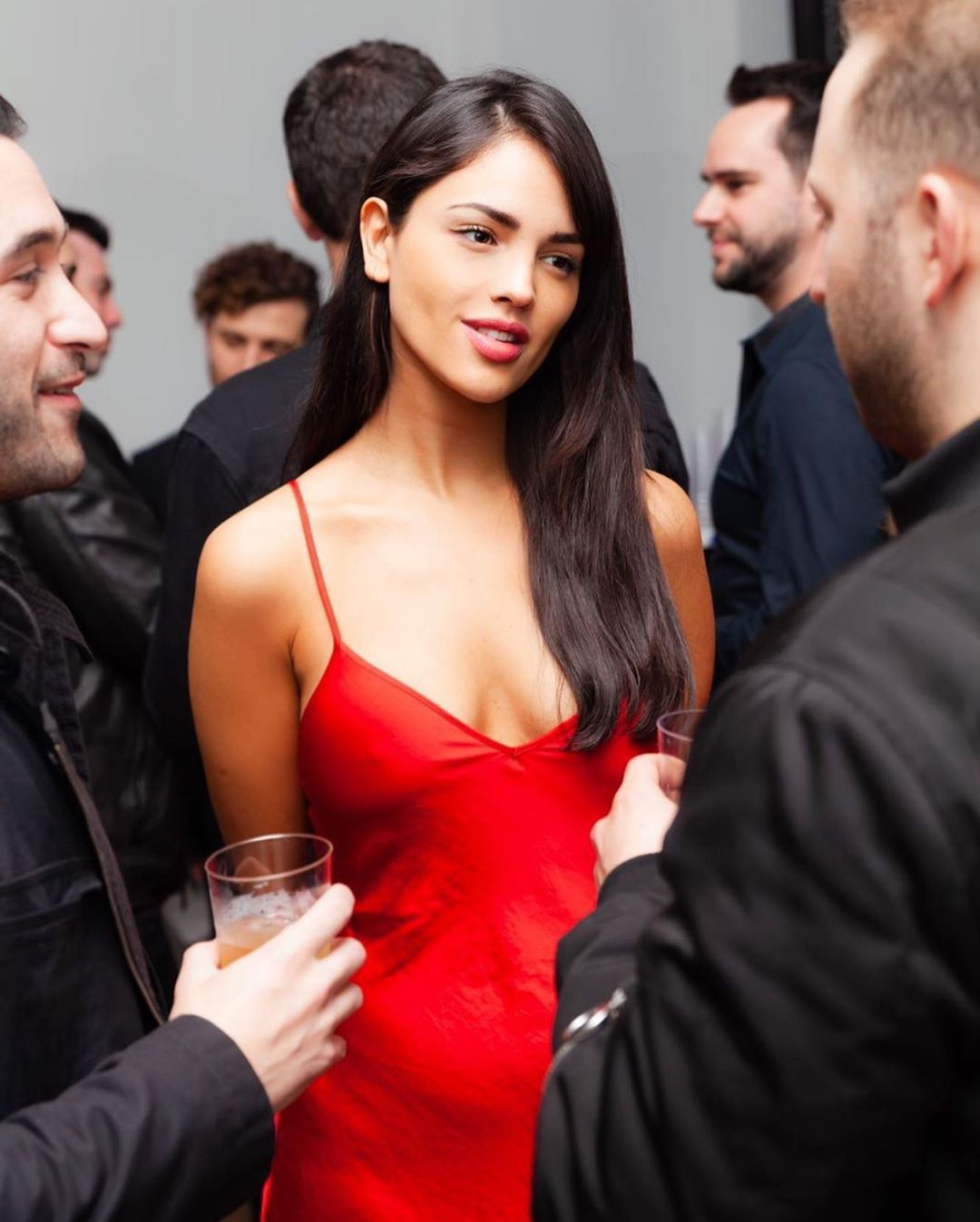 Eiza On Instagram I M Staring At Food 100 Dinner Party Dress Eiza Gonzalez Celebs