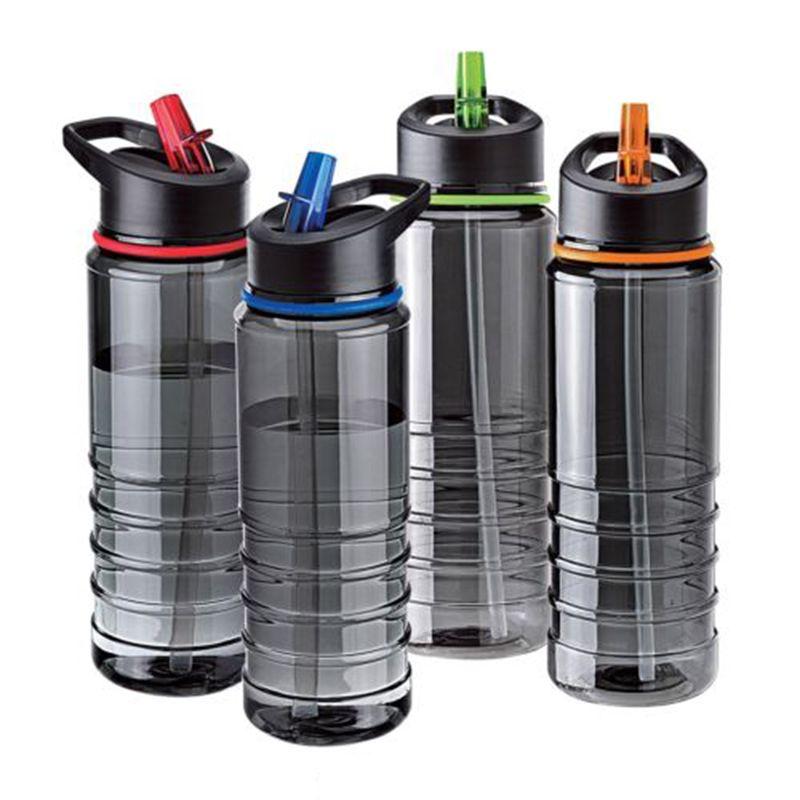 새로운 뜨거운 판매 플립 밀짚 트라이 탄 음료 병 컵 스포츠 수화 물 병 자전거 하이킹 Caming 마시는 도구 750 미리리터