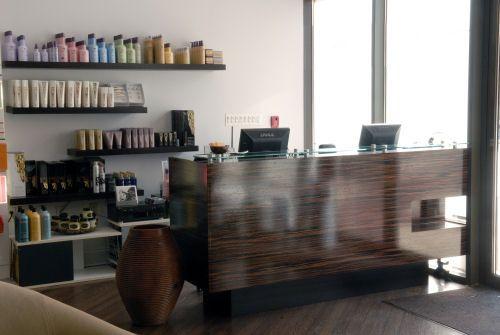Blu Salon By Salon Interiors Inc Custom Reception Desk