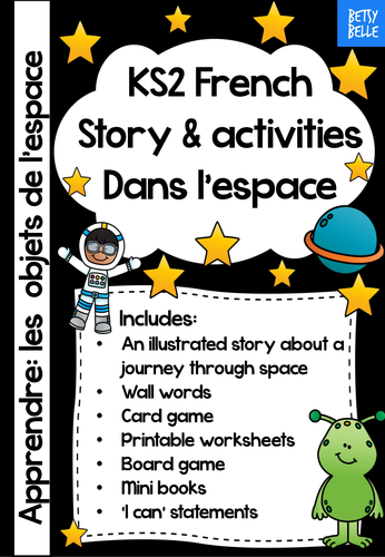 ks2 french story a space journey primary best reviewed french worksheets emergent readers. Black Bedroom Furniture Sets. Home Design Ideas