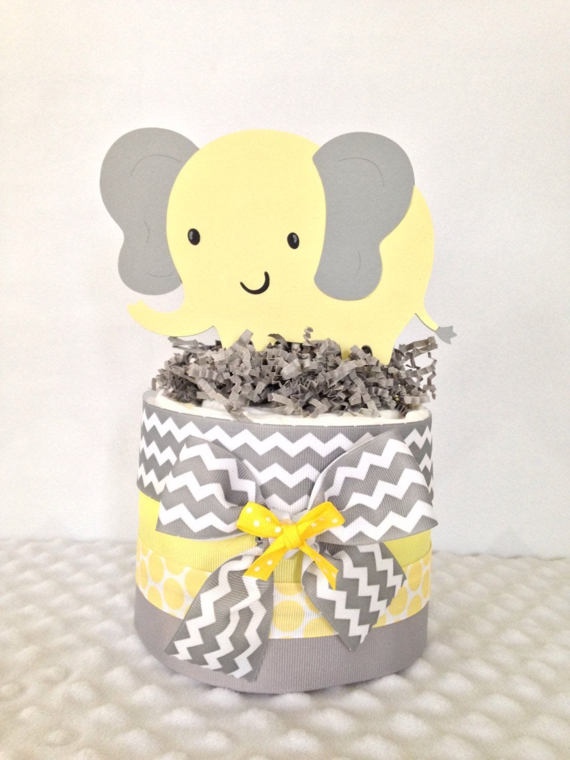 Yellow And Grey Elephant Baby Shower Decorations Gray Yellow Baby