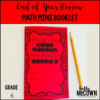 grade 6 end of year math review