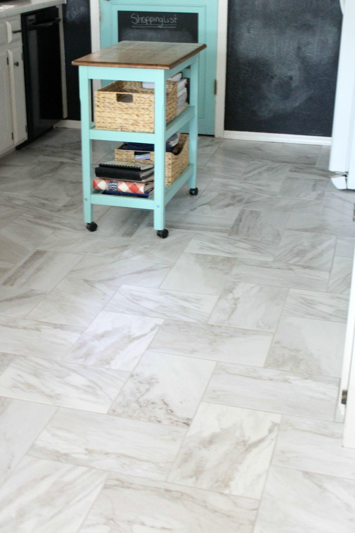 New Tile Floor In The Kitchen Kitchen Floor Tile Marble Floor Kitchen Herringbone Tile Floors