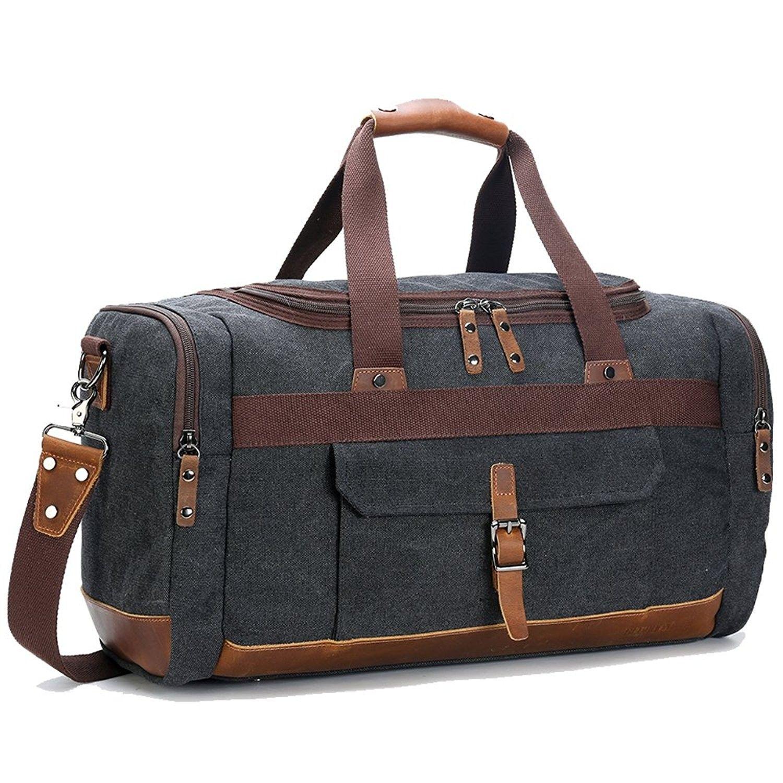 Men s Bags, Duffle Bags, Overnight Genuine Leather Vintage - Big Size Dark  Grey - CF12O6MX701  style  DuffleBags  mensbags  Travelbag  Handbags 981b6eded3