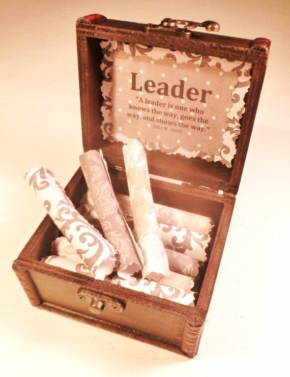 Leadership Scroll Box Motivational Leadership Quotes In