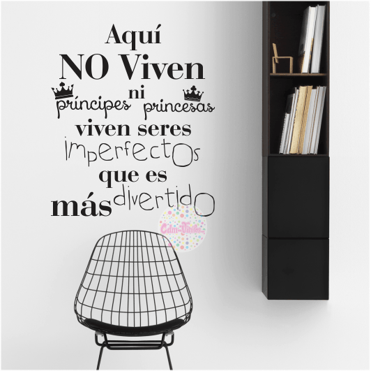 Vinilo decorativo pared frase tipografico imperfectos - Frases de vinilos ...