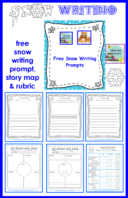 Free Writing Prompts For Snow Story Story Plan Map Student And Teacher Rubrics Writing Prompts For Kids Kindergarten Writing Prompts Free Writing Prompts