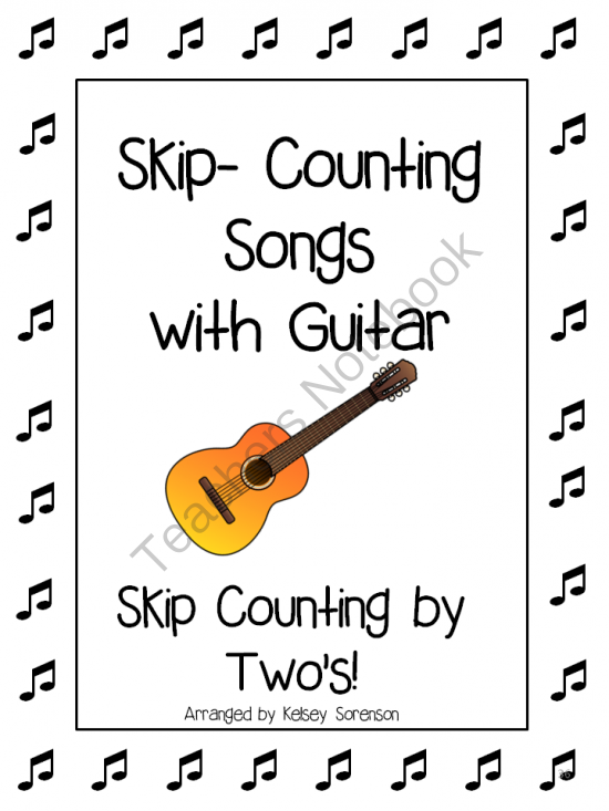 Music: Skip Counting by Twos with Guitar Chords Multiplication Facts ...