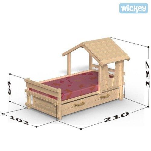 kinderbett wickey crazy sunny m bel kinder bett kinderbett haus und kinderbett m dchen. Black Bedroom Furniture Sets. Home Design Ideas