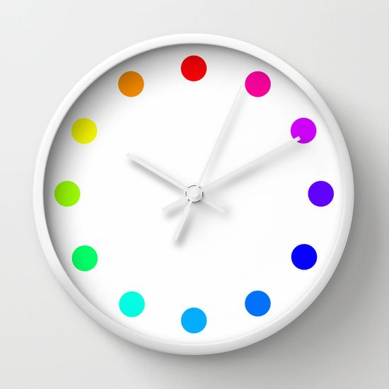 clock+dots+-+color+option+white+Wall+Clock+by+Steffi+Louis+Finds&art+-+$30.00