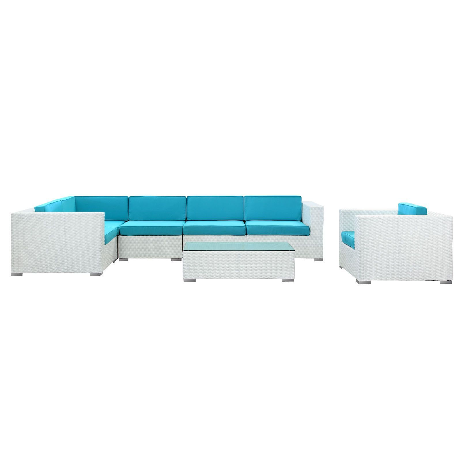 Modway Corona 7 Piece Outdoor Patio Sectional Set