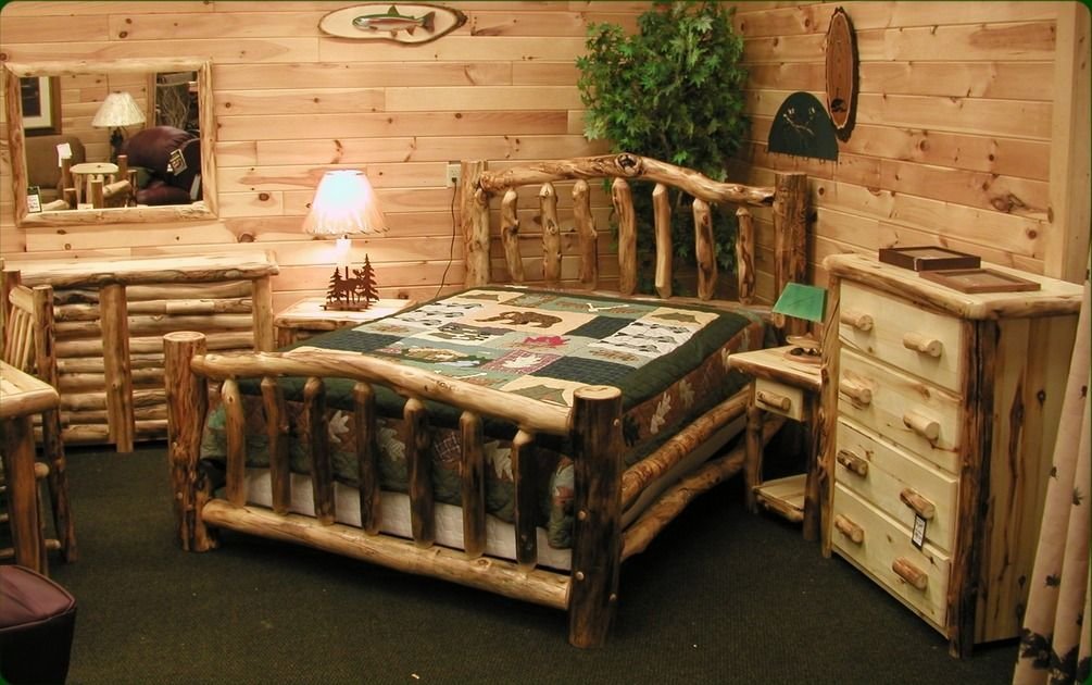 Aspen Log Bedroom Set