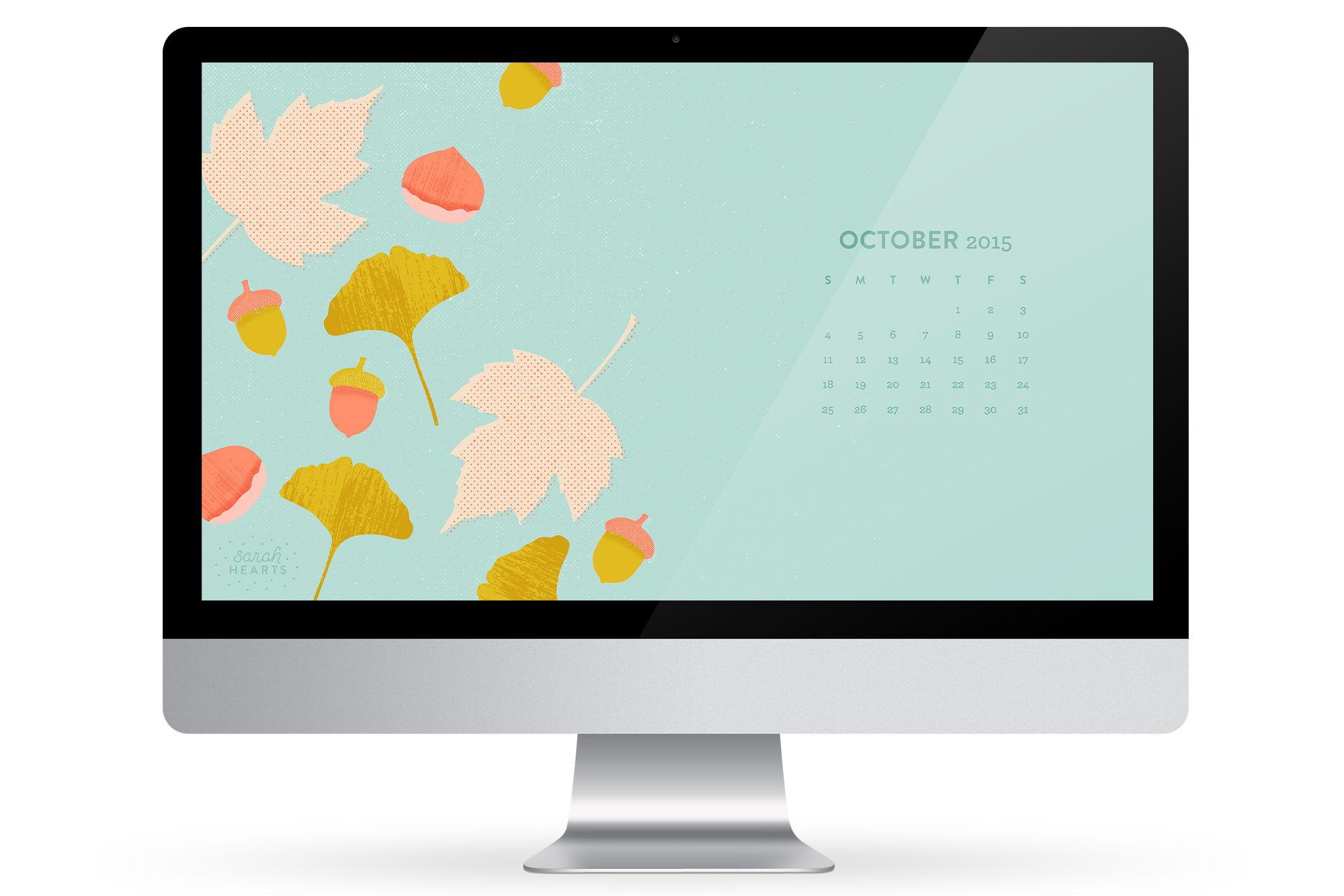 october 2015 calendar wallpaper