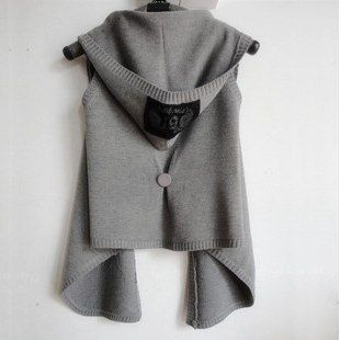 2016 New Autumn Winter Women Vest with hood knitted woman vest ...
