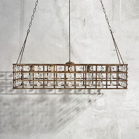 rectangular cage chandelier rustic breakfast room shop la cage chandeliers at arhauscom decor