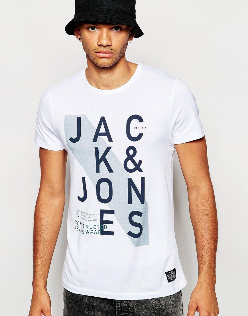 65f33d194063c3 Image 1 of Jack   Jones T-Shirt with Jack   Jones Print