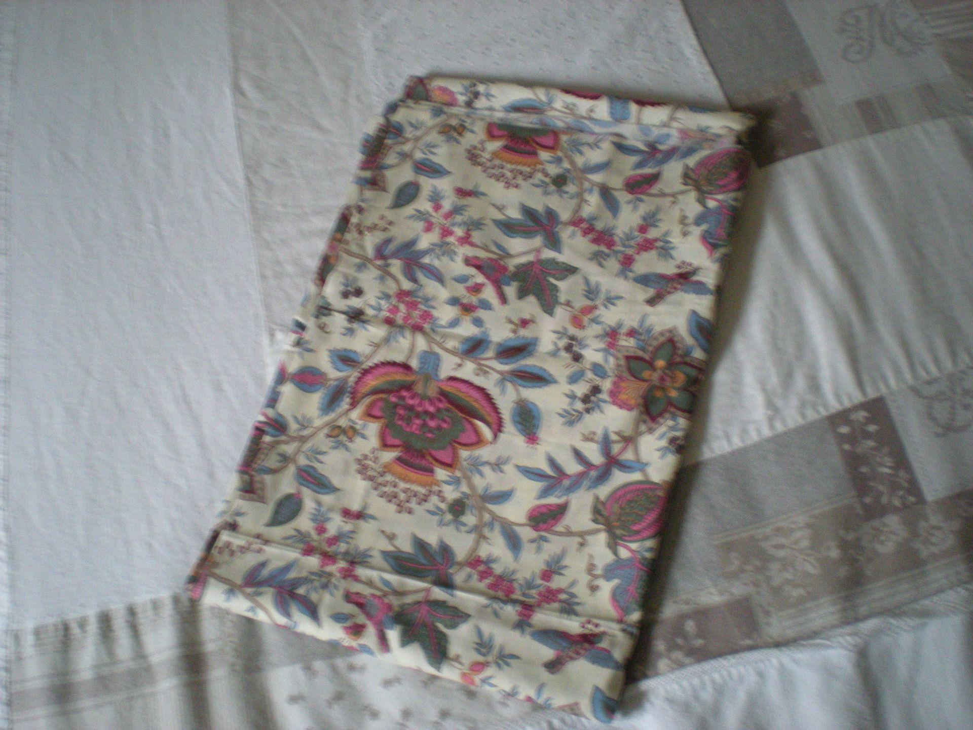 coupon tissu coton imprimé fleurs : Tissus Ameublement par nany-made