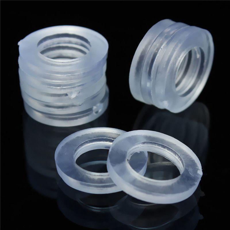 10Pcs/Set 1/2 Inch Transparent Rubber Shower Hose Washers Rings For ...