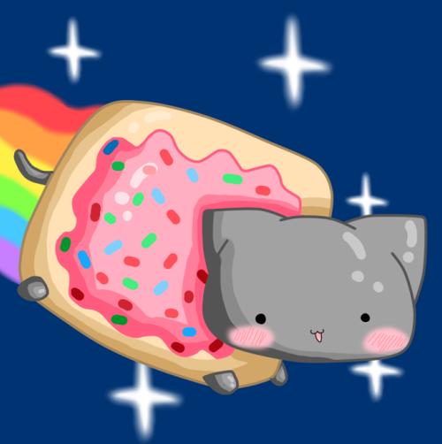 Group Of Nyan Cat Gif Bing Images We Heart It Nyan Cat Pusheen Cat Cat Gif