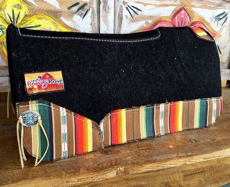 Best Ever Pads custom western saddle pad by The Rowdy Rose