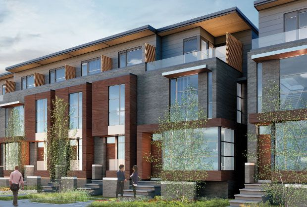 Upcoming town homes intoronto so nice but so expensive for Modern townhouse exterior