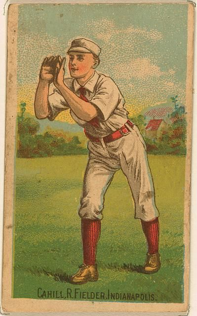 John Cahill Indianapolis Hoosiers Baseball Card Portrait Baseball Cards Baseball Vintage Baseball