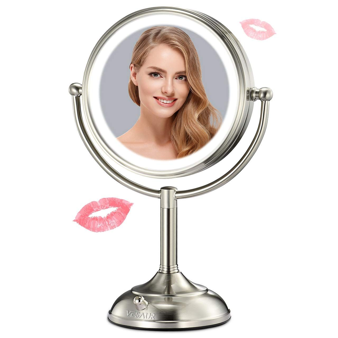 Vesaur Professional 7 5 Lighted Makeup Mirror 10x Magnifying