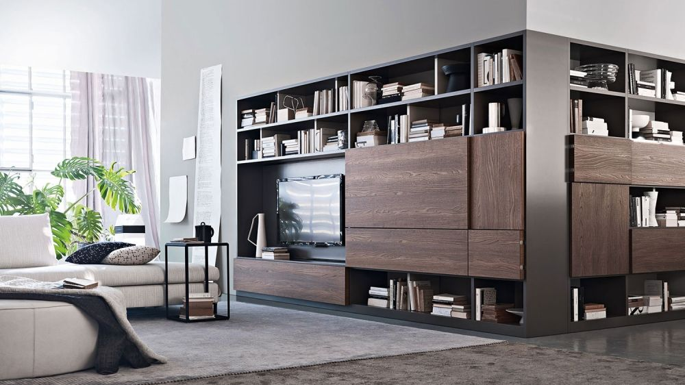 Discover all the information about the product contemporary tv wall unit wooden glass modular 505 by nicola gallizia molteni c and find where you