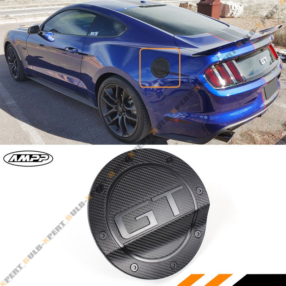 For 15 19 Ford Mustang 3d Gt Carbon Fiber Texture Add On Gas Fuel Door Cover Cap In 2020 Ford Mustang Mustang 2017 Ford Mustang
