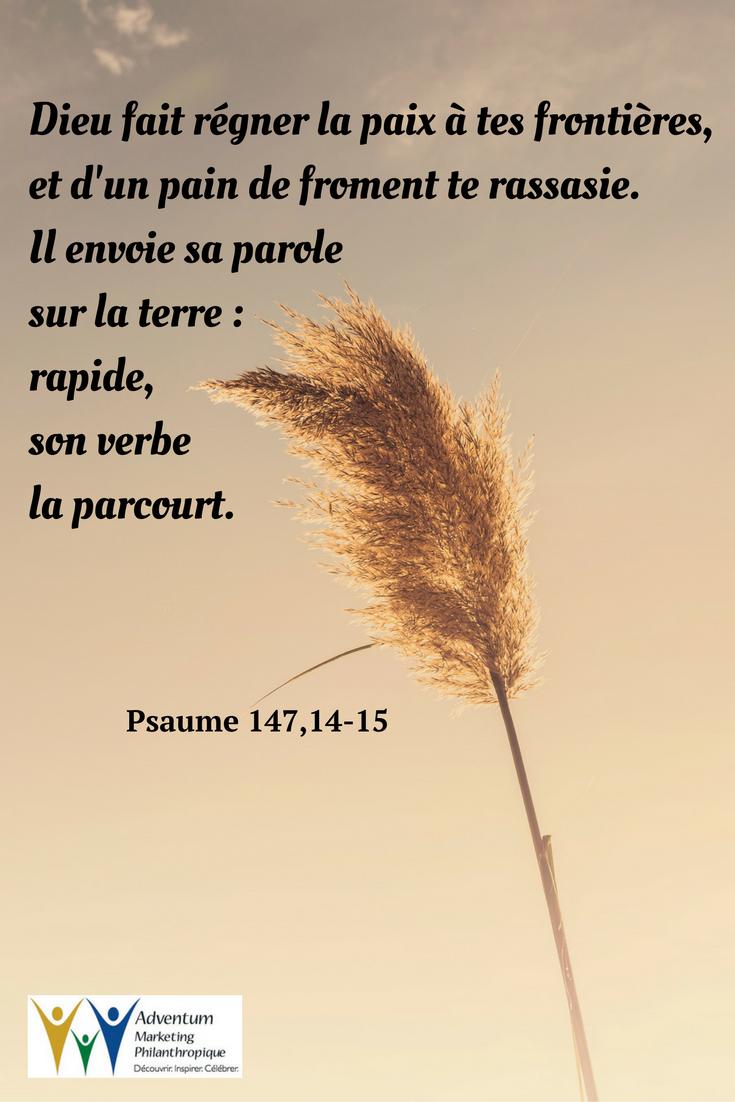 6 janvier 2017 – Psaume 147,14-15 (avec images)   Psaumes, Texte ...