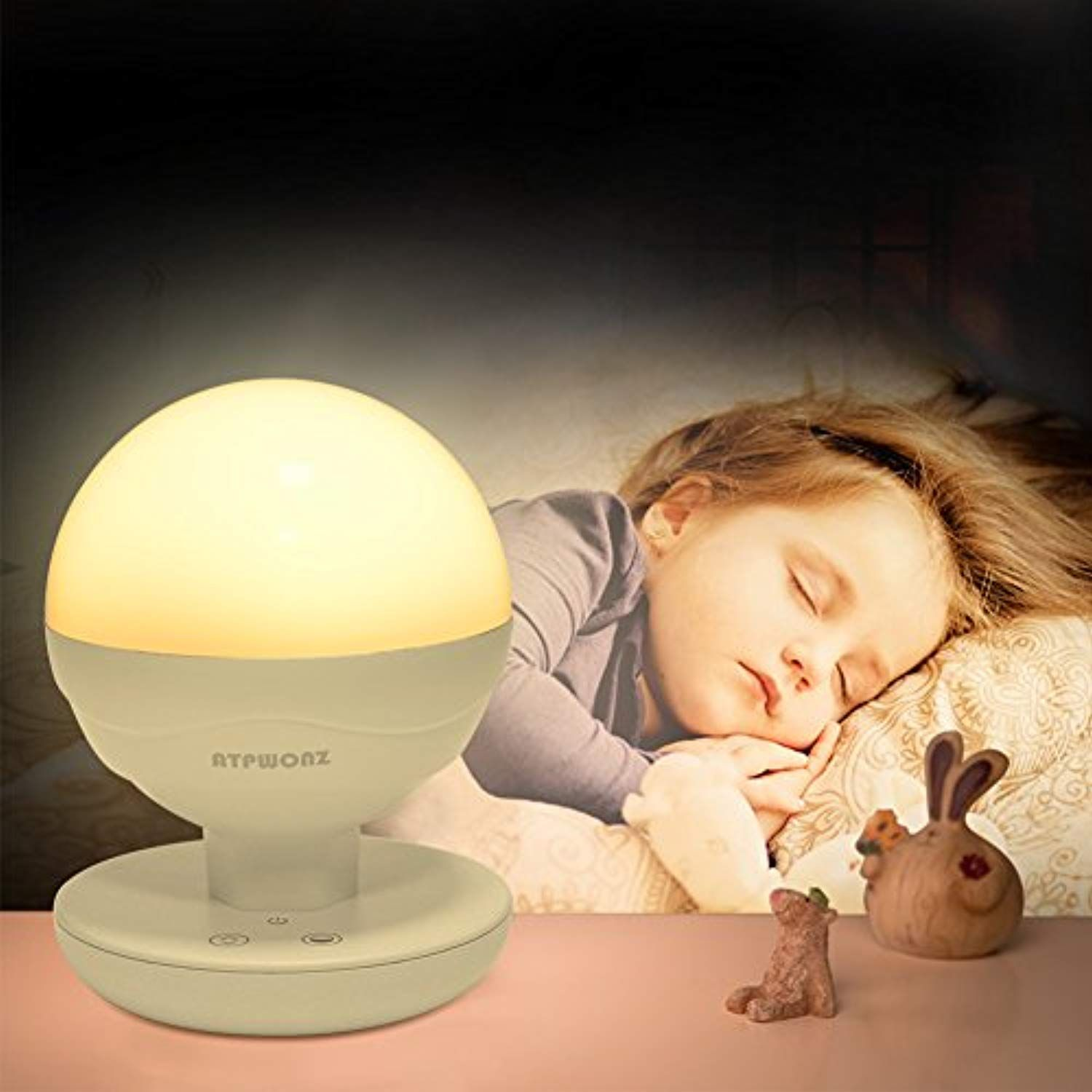 Atpwonz Led Night Lights For Kids Nursery Nightlight Bedside Lamp For Breastfeeding With Touch Control Night F Night Light Kids Nursery Night Light Night Light