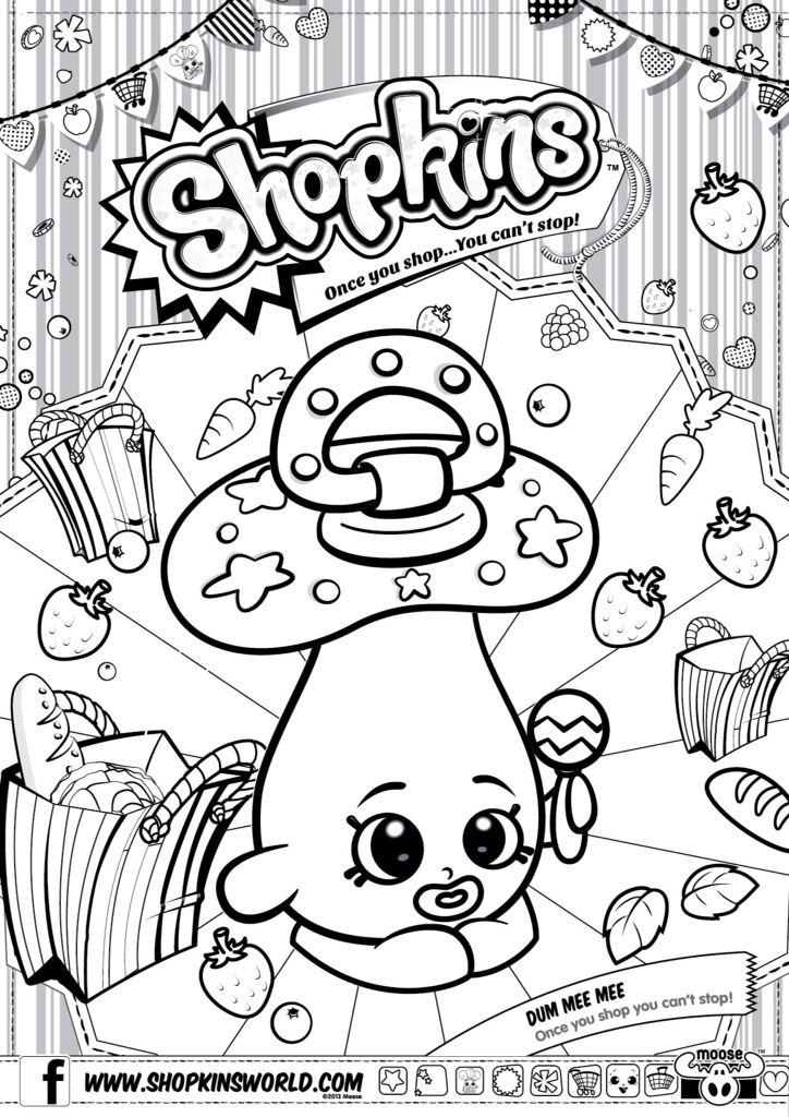 Shopkins Colour Color Page Dum Mee Mee ShopkinsWorld Shopkins Colouring  Pages, Shopkin Coloring Pages, Coloring Pages