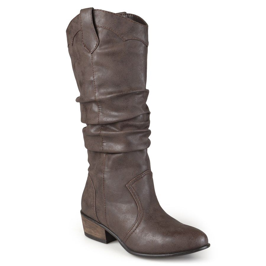 Slouch Country Inspired Riding Boots Wide Calf Options Boots Brown Slouch Boots Wide Calf Boots