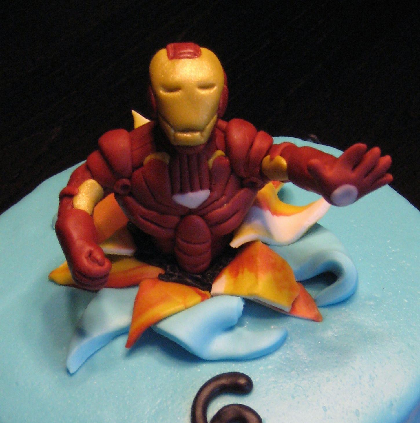 Iron Man Cake Make cake decoration and cake baking easy with these