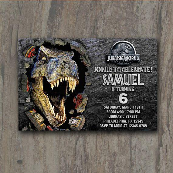 Jurassic World Invitation Jurassic World Party by AMINdesign
